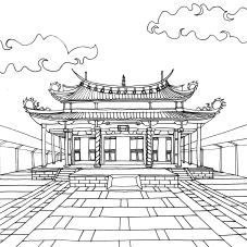 Taipei - Temple Confucius