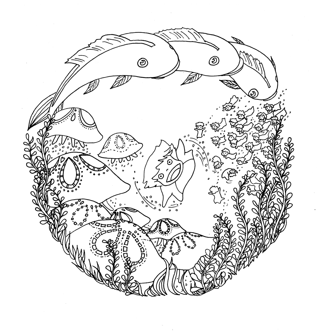 Ghibli le chocobo for Ponyo coloring pages to print